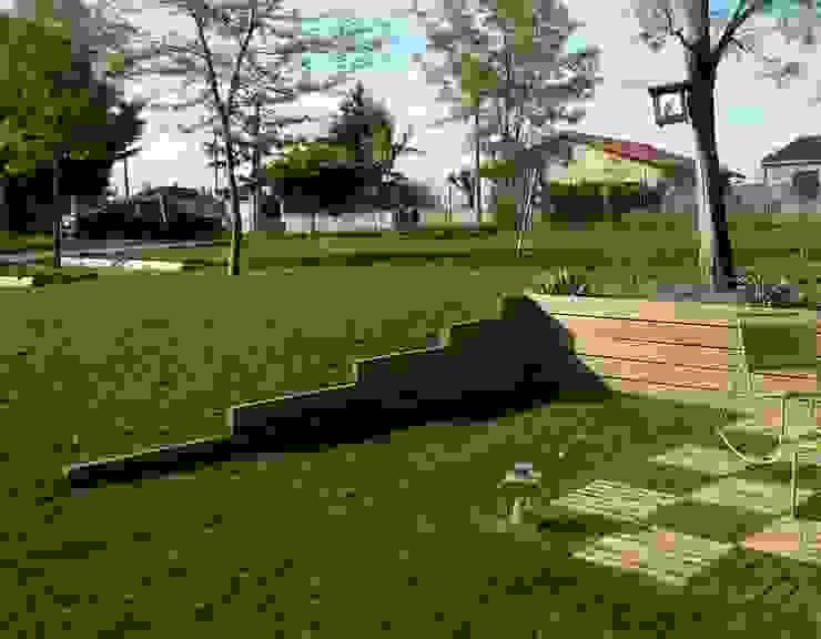 Rétention de terre, traverses Jardin moderne par Constans Paysage Moderne