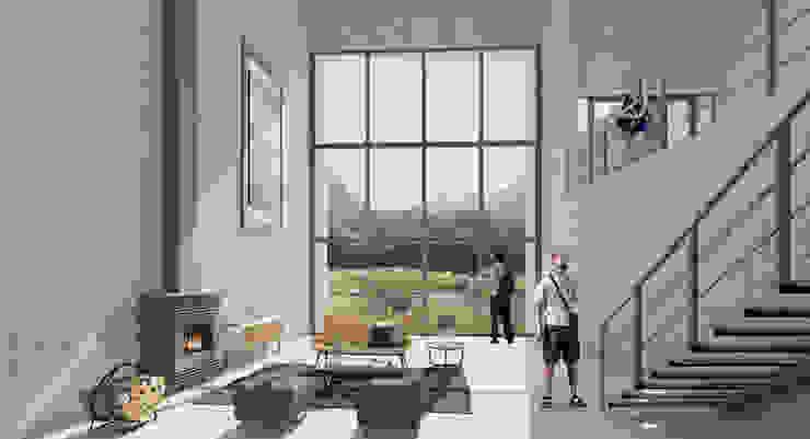 Moderne woonkamers van Ctrl+ Modern