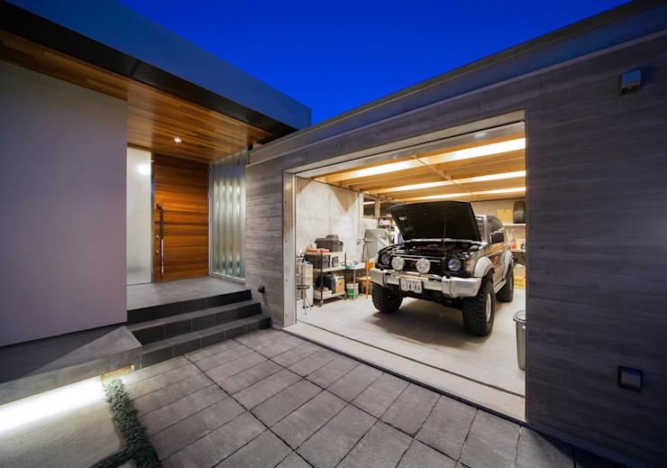 ISDアーキテクト一級建築士事務所 Modern Houses Reinforced concrete White