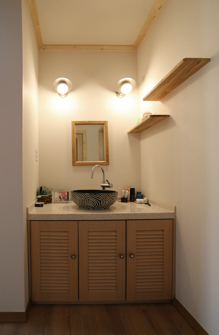 보광리 (Bokwanglee) 모던스타일 욕실 by HOUSE & BUILDER 모던