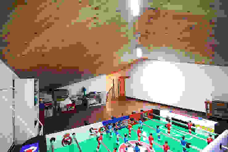 용인 흥덕지구 (Yongin) Salle multimédia moderne par HOUSE & BUILDER Moderne