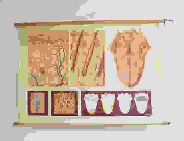 Huid en de tong: Vintage schoolplaat, anatomie van de mens. van Flat sheep Rustiek & Brocante