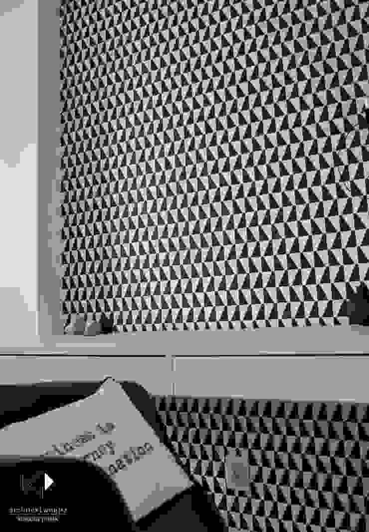 Рабочий кабинет в стиле модерн от Architekt wnętrz Klaudia Pniak Модерн