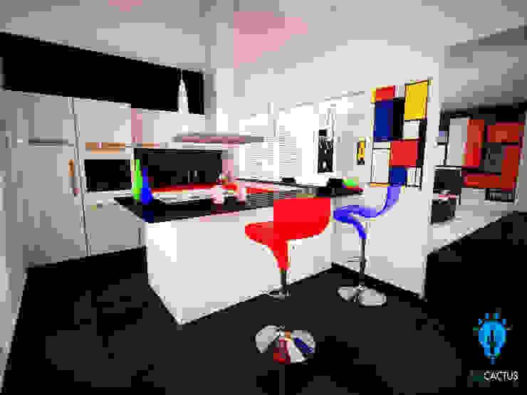 blucactus design Studio Modern Kitchen