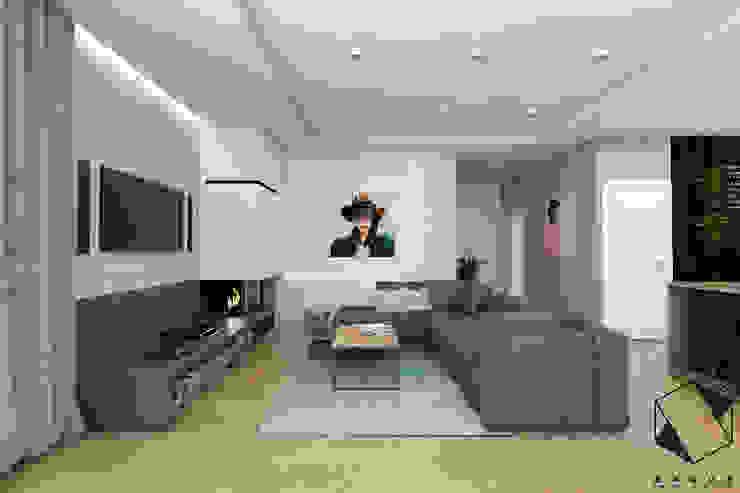 BAGUA Pracownia Architektury Wnętrz Modern Living Room