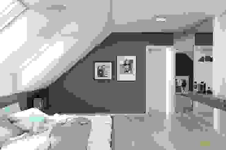 BAGUA Pracownia Architektury Wnętrz Modern Bedroom