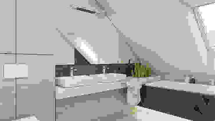 BAGUA Pracownia Architektury Wnętrz Modern Bathroom