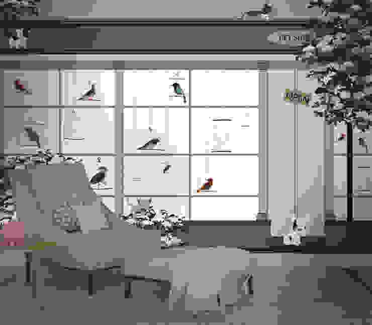 HF085-Pet Shop por House Frame Wallpaper & Fabrics Moderno