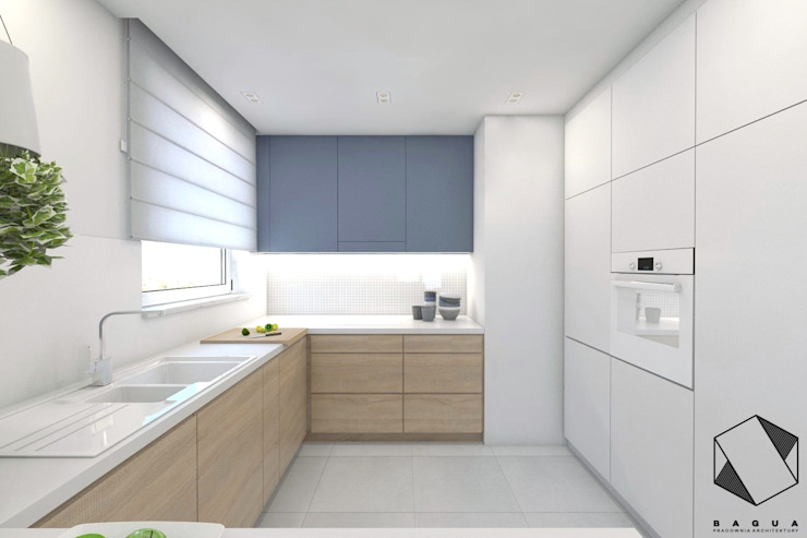 BAGUA Pracownia Architektury Wnętrz Minimalist kitchen