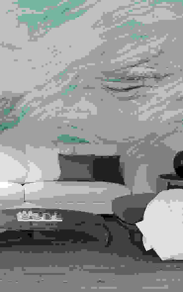HF090-Big Waves por House Frame Wallpaper & Fabrics Moderno