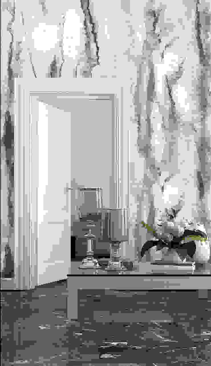 HF091-Leaves por House Frame Wallpaper & Fabrics Moderno