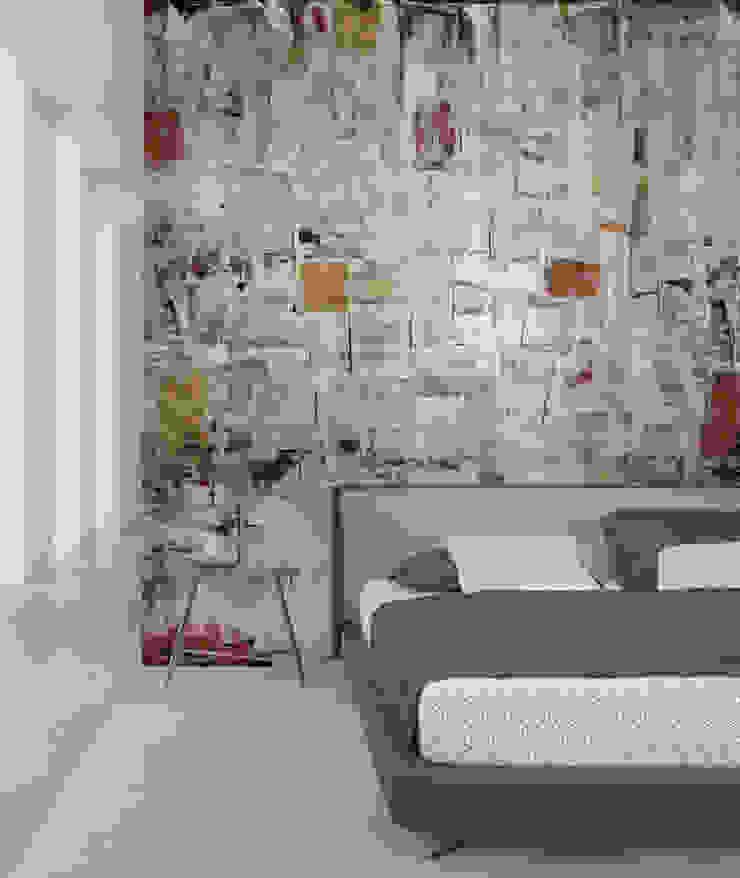 HF095-Blue por House Frame Wallpaper & Fabrics Moderno