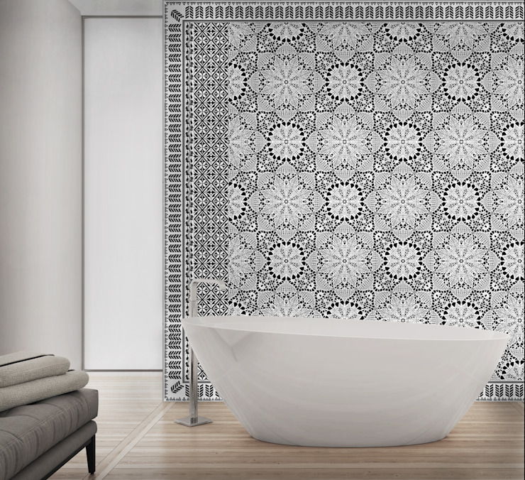 HF101-Mosaic por House Frame Wallpaper & Fabrics Moderno