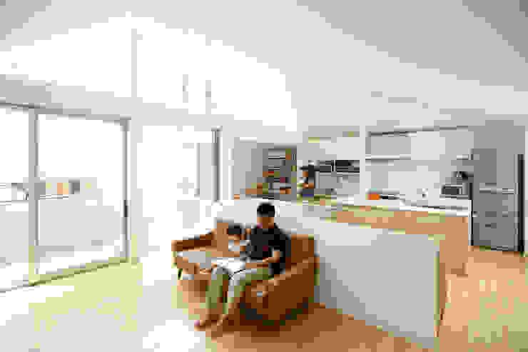 空と暮らす家 設計事務所アーキプレイス 北欧デザインの リビング