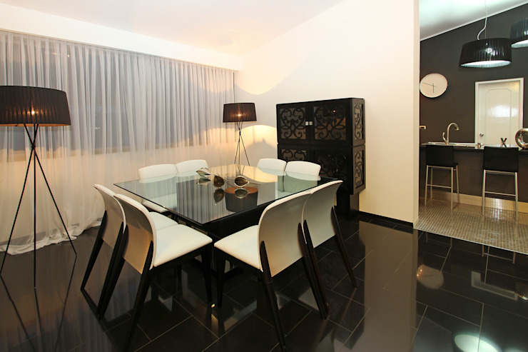 Dining room by Arq Renny Molina, Modern