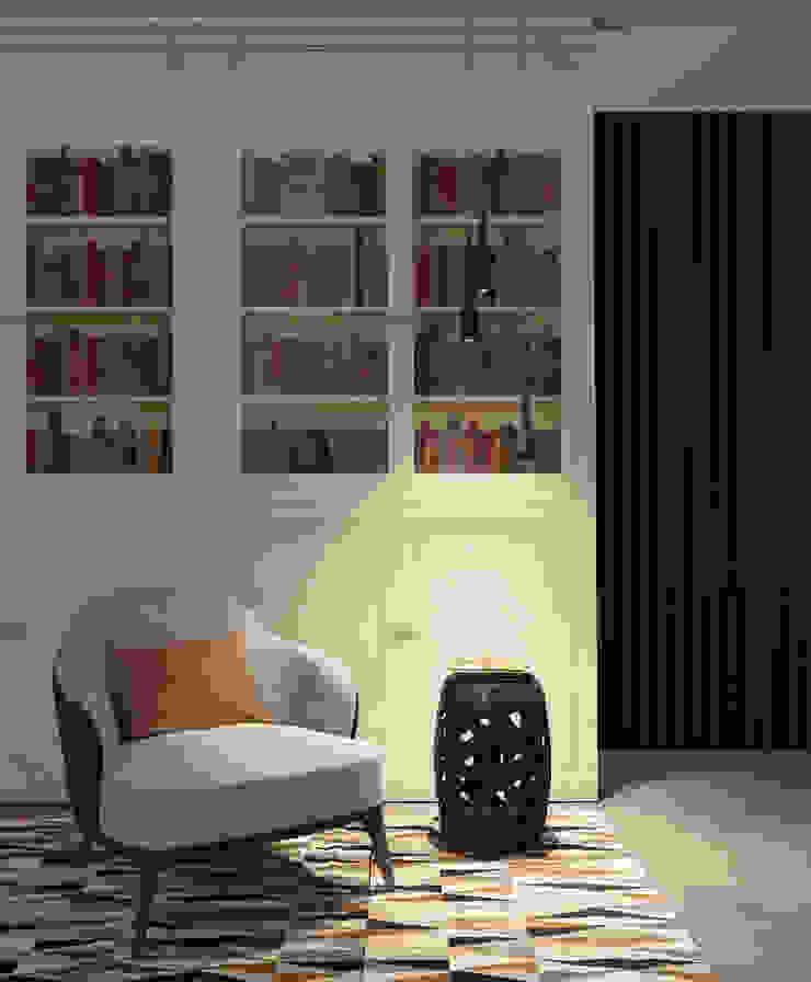 HF107-My Bookshelf por House Frame Wallpaper & Fabrics Moderno