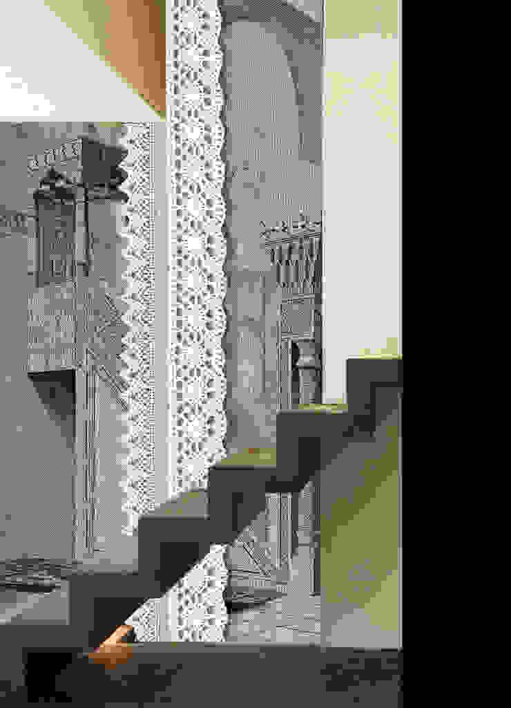 HF110-Embroidered on the Story por House Frame Wallpaper & Fabrics Moderno