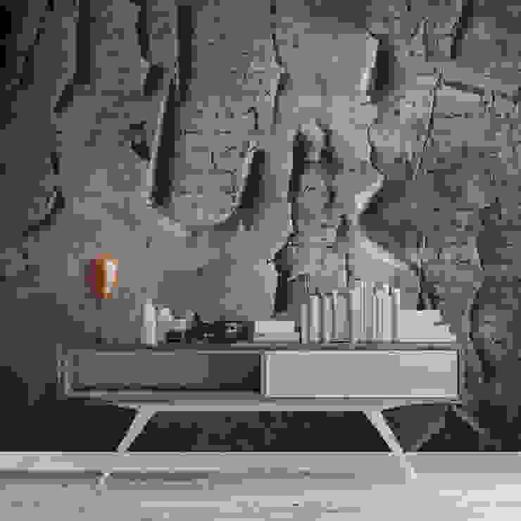 HF117-Memories in the Wall por House Frame Wallpaper & Fabrics Moderno