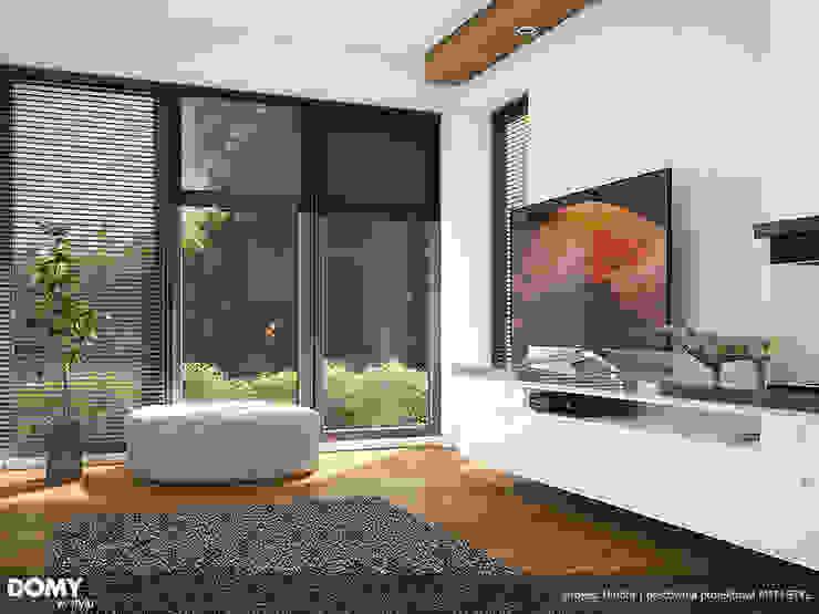现代客厅設計點子、靈感 & 圖片 根據 Biuro Projektów MTM Styl - domywstylu.pl 現代風