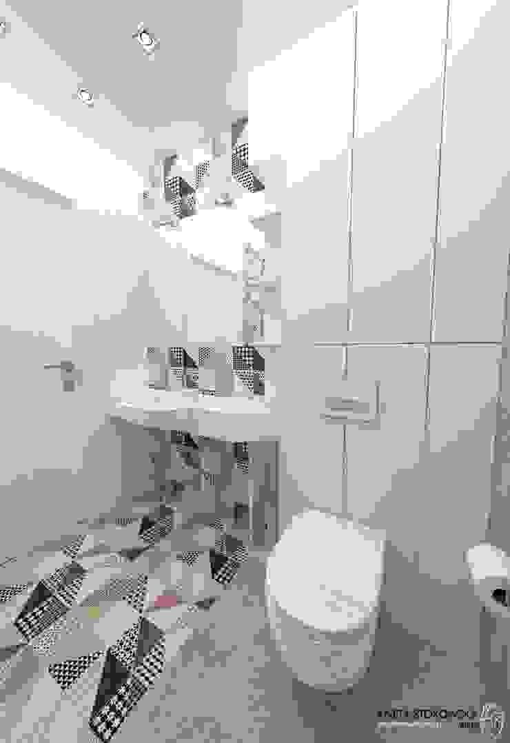 Salle de bain moderne par WNĘTRZNOŚCI Projektowanie wnętrz i mebli Moderne