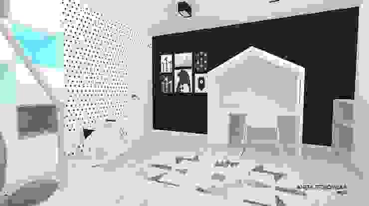 Chambre d'enfant moderne par WNĘTRZNOŚCI Projektowanie wnętrz i mebli Moderne