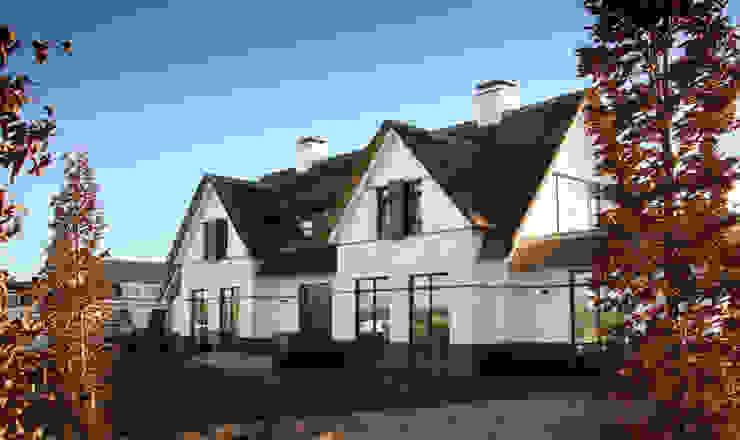 Witte villa met rieten dak Landelijke huizen van Arend Groenewegen Architect BNA Landelijk