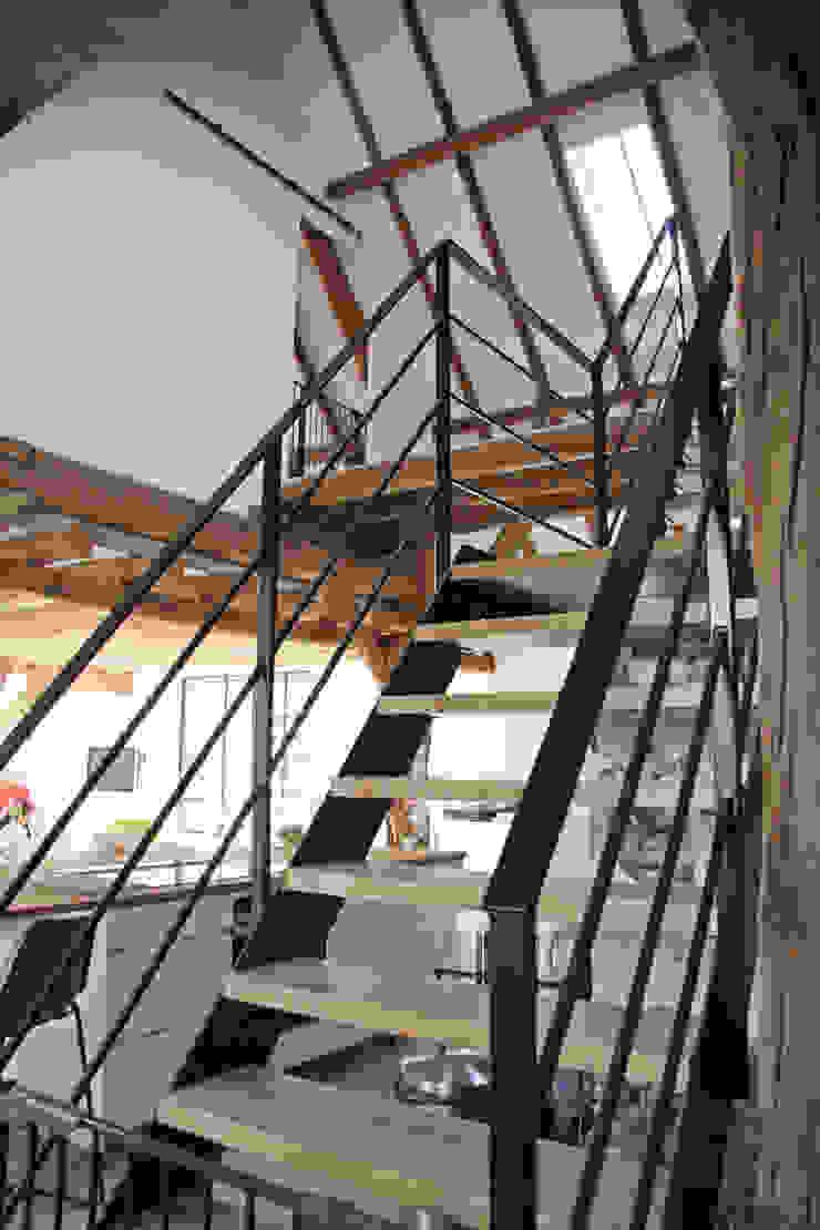 trap Landelijke gangen, hallen & trappenhuizen van Arend Groenewegen Architect BNA Landelijk