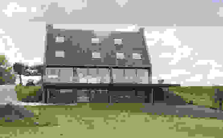 rivierzijde, glazen gevel Moderne huizen van Arend Groenewegen Architect BNA Modern