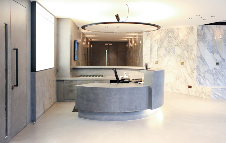 Leman Street Offices Modern offices & stores by Househam Henderson Modern Concrete