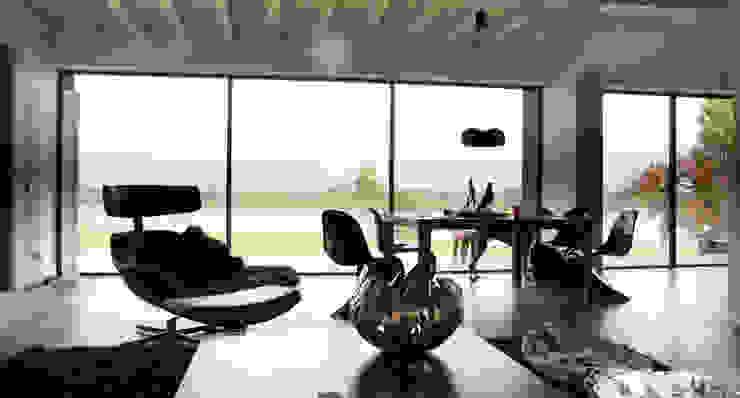 Nowoczesny salon od Arend Groenewegen Architect BNA Nowoczesny