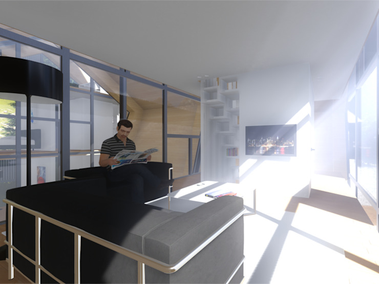 Interior - Sala de estar por Arq. Duarte Carvalho