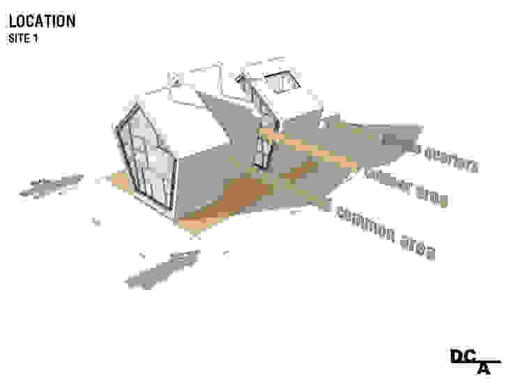 Esquema 2 - Localização e distribuição programática por Arq. Duarte Carvalho