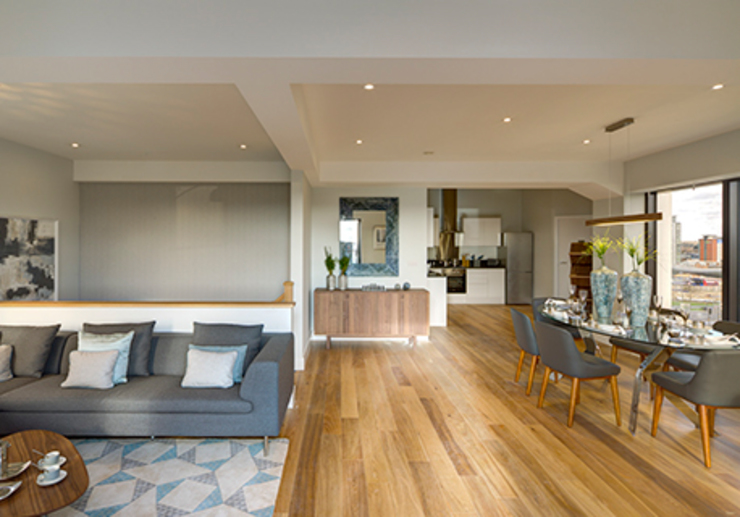 Living and Dining Room Cornwall House, Slough โดย Househam Henderson โมเดิร์น