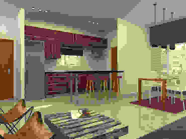 Cocina Integrada. Cocinas modernas: Ideas, imágenes y decoración de Arquitecto Ariel Ramírez Moderno Mármol