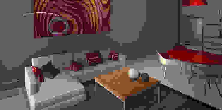 Proyecto edificio residencial Livings modernos: Ideas, imágenes y decoración de CaB Estudio de Arquitectura Moderno