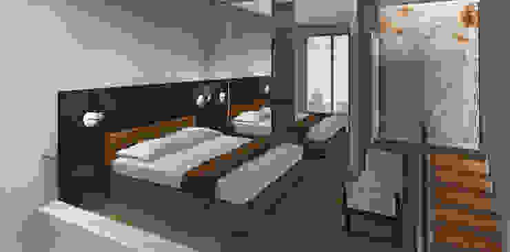 Proyecto edificio residencial Dormitorios modernos: Ideas, imágenes y decoración de CaB Estudio de Arquitectura Moderno