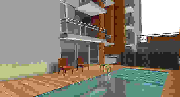 Proyecto edificio residencial Balcones y terrazas modernos: Ideas, imágenes y decoración de CaB Estudio de Arquitectura Moderno