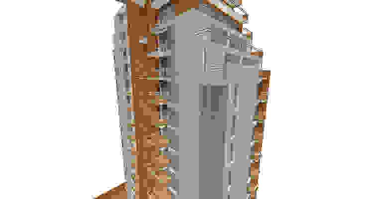 Proyecto edificio residencial Casas modernas: Ideas, imágenes y decoración de CaB Estudio de Arquitectura Moderno