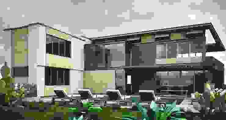 CaSA PADELFORD Albercas modernas de CoRREA Arquitectos Moderno