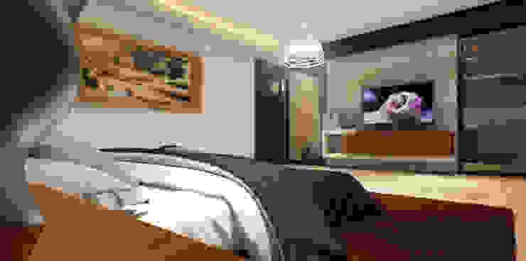 Спальня в стиле модерн от AParquitectos Модерн