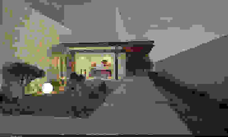 Fachada Casas modernas de AParquitectos Moderno Madera Acabado en madera
