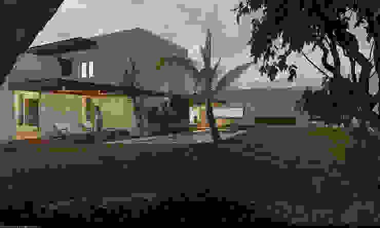 Fachada interior Albercas modernas de AParquitectos Moderno