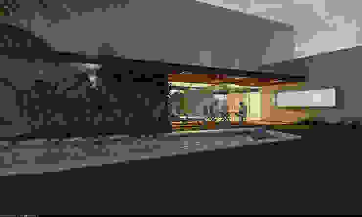 Бассейн в стиле модерн от AParquitectos Модерн