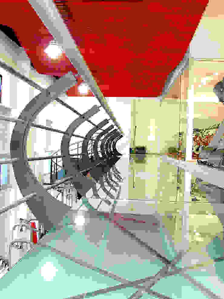Pasillo gimnasio Espacios comerciales de estilo moderno de AParquitectos Moderno
