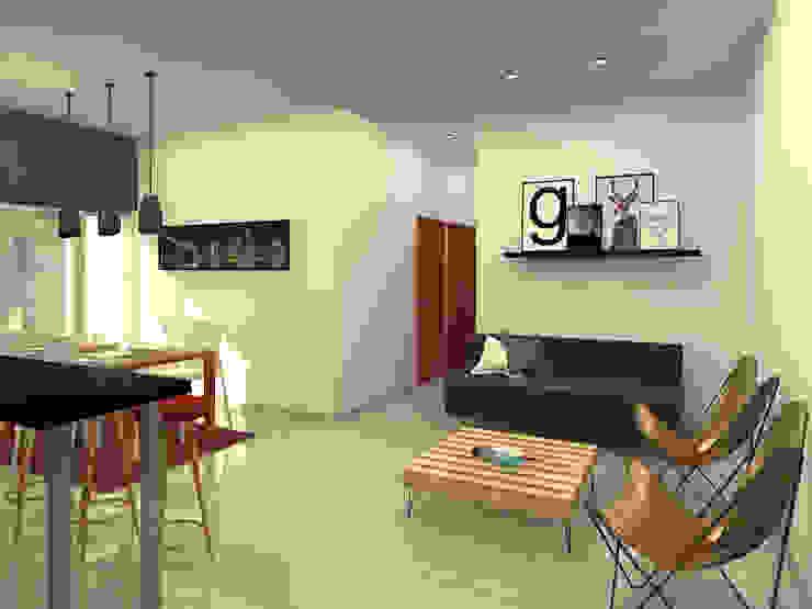 Living Salas modernas de Arquitecto Ariel Ramírez Moderno Derivados de madera Transparente