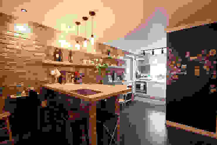 소품이 돋보이는 집: 디자인투플라이의  다이닝 룸,인더스트리얼
