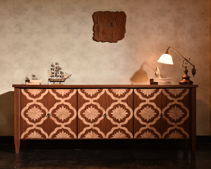 Lilypond Sideboard: asian  by KNOCK ON WOOD,Asian Wood Wood effect