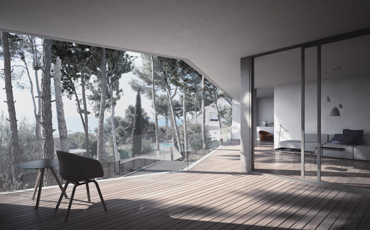 LUV Studio Mediterranean style balcony, veranda & terrace