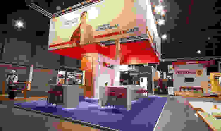 Beursstand EnSafe bouwbeurs 2013 Moderne exhibitieruimten van INZIGHT architecture Modern