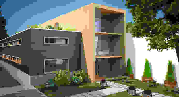 Edificios de oficinas de estilo moderno de INZIGHT architecture Moderno Madera Acabado en madera